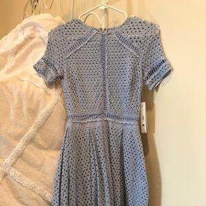 AQUA XS NWT light blue dress